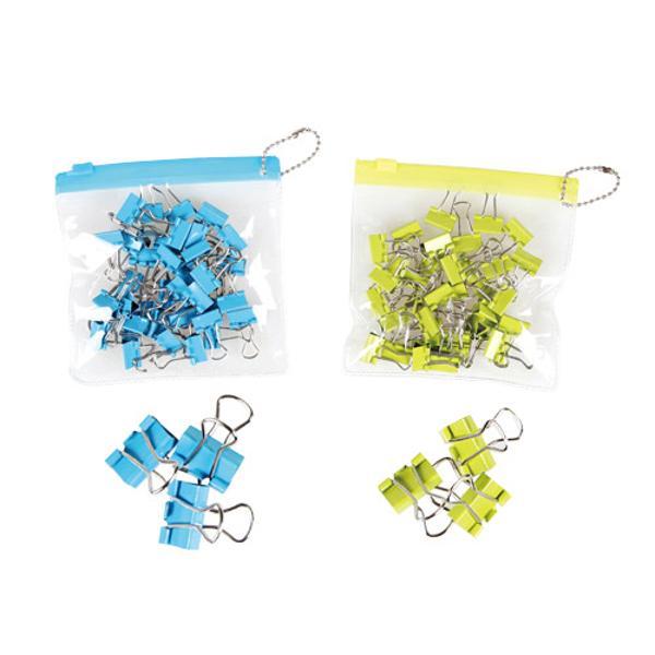 컬러바인더클립(zip bag/15mm/블루/SYLOON)