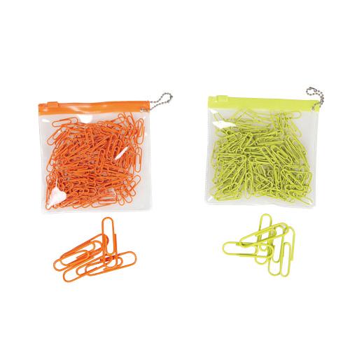 컬러페이퍼클립(zip bag/28mm/레몬/SYLOON)