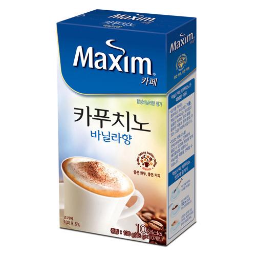 맥심카페 카푸치노 바닐라향(13g*10T/동서식품)