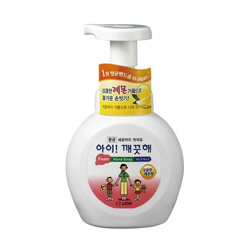 [879775]아이깨끗해 핸드워시 용기(상큼한레몬/250ml/라이온코리아)