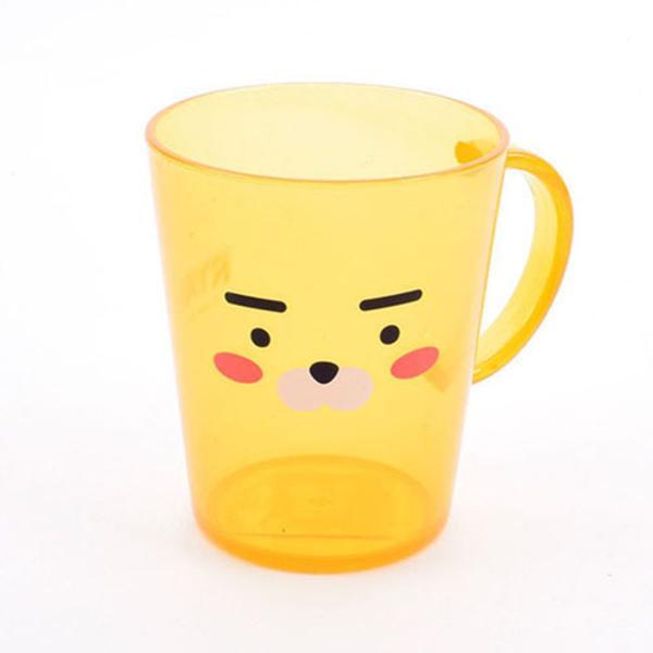 [811144]카카오 라이언 투명 양치컵