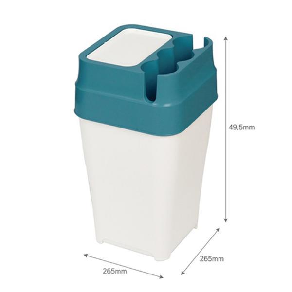 [826672]종이컵 휴지통 20L 피코그린