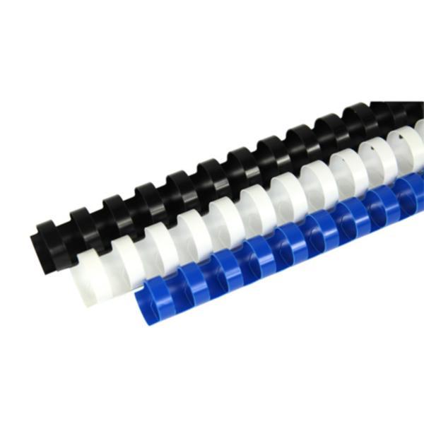 [W60717]플라스틱제본링(8mm/백/100개/라미에이스)