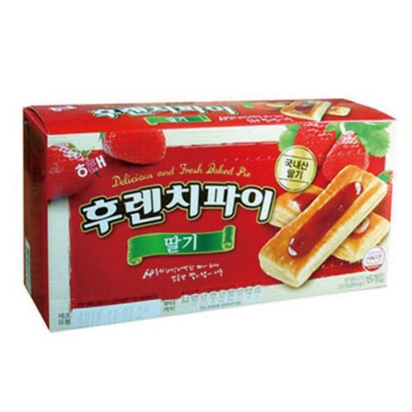 [886230]후렌치파이(192g*2EA/15입/딸기맛/해태제과)