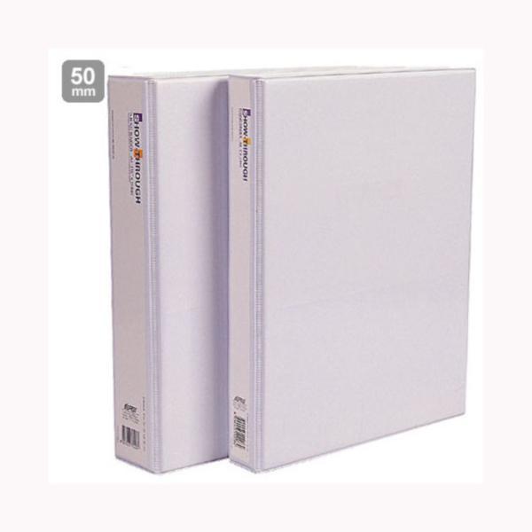 [G99456]투명 3공D링바인더(A4/D645/5cm/백색/대흥사)