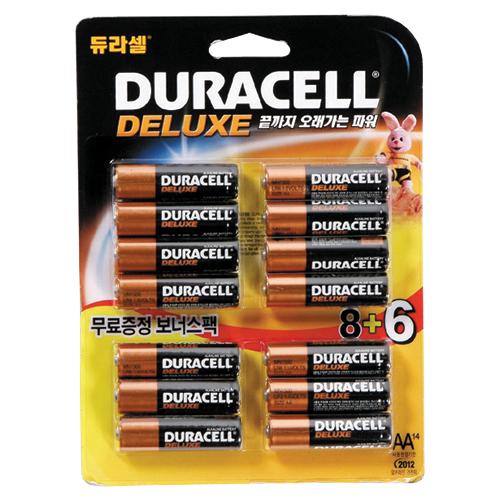 [800550]듀라셀 알카라인 디럭스 건전지(AA8+6)