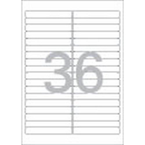 [219440]화일인덱스용 라벨(LS-3621/100매/36칸/폼텍)