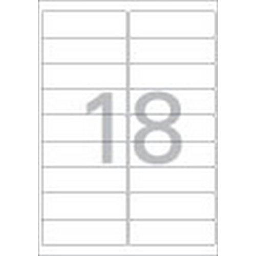 [219080]주소용 라벨(LS-3109/100매/18칸/폼텍)